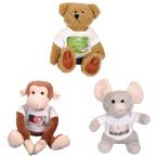 Mjukisdjur - Apa, elefant och nalle